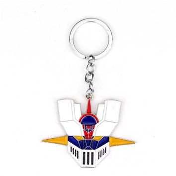 Hot Sale Anime Jewelry Mazinger Z Head Portrait Multicolor Mask Metal Keychain For Men Women Gift