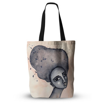 "Stacey-Ann Cole ""Yearning African American Art"" Beige Black Everything Tote Bag"