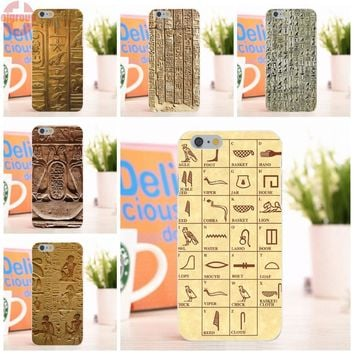 Egyptian Style Art Soft Silicon Phone Case For Apple Iphone 6,6s 4.7 Inch Hieroglyphics