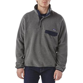 Patagonia Men's Lightweight Synchilla® Snap-T® Pullover | Nickel w/Navy Blue