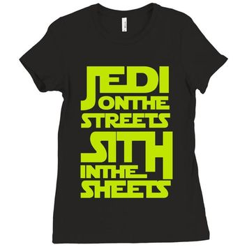 Jedi On The Streets Sith In The Sheets Ladies Fitted T-Shirt