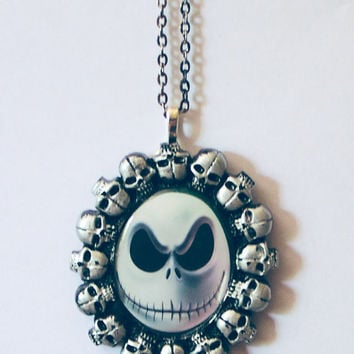 nightmare before before christmas nightmare before christmas jack skellington jack and sally creepy halloween necklace the pumpkin king jack