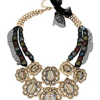 PROM PARTY MULTI STONE FRONTAL NECKLACE