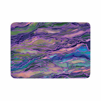 "Ebi Emporium ""Marble Idea! - Lavender Pink"" Purple Geological Memory Foam Bath Mat"