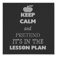 keep calm and pretend its in the lesson plan