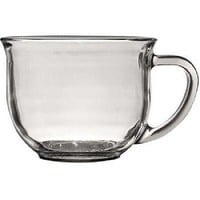 Large Clear Coffee, Tea or Soup Mug, 18 oz.~ 2 Pack