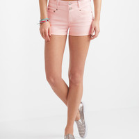 Seriously Stretchy High-Waisted Color Wash Shorty Shorts