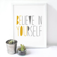 Lovely Inspiration Quote Canvas Art Print Painting Poster, Wall Pictures For Home Decoration, Wall Decor FA091