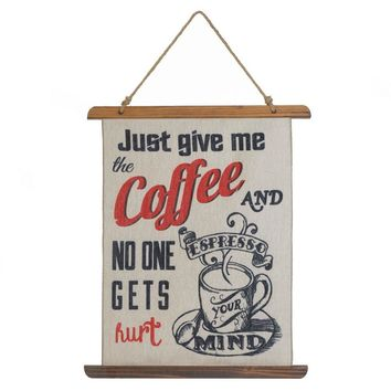 Country Farmhouse Vintage Coffee Sign Wall Decor