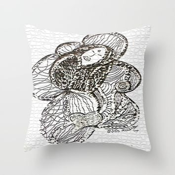 Loveme Throw Pillow by EvidaSerrano