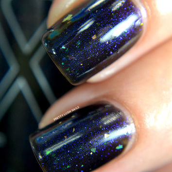 Vox Populi - Black Jelly Base with Ultraviolet Shimmer and Flakies