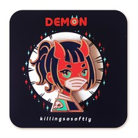 Demon Enamel Pin by killingsosoftly