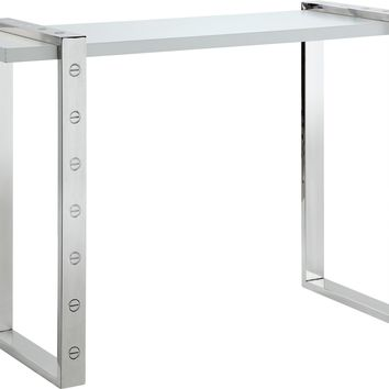 Amore Chrome Console Table