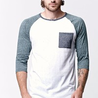 On The Byas Sabo Pocket Raglan Crew T-Shirt - Mens Shirt