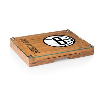 Brooklyn Nets - 'Concerto' Glass Top Cheese Board & Tools Set by Picnic Time