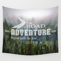 The Road To Adventure Wall Tapestry by inspiredimages