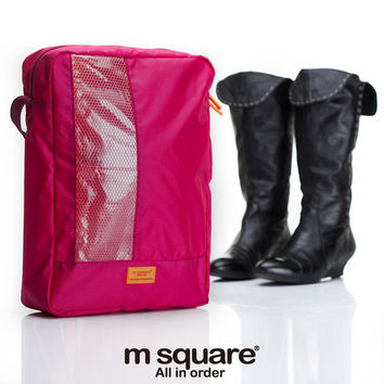Multi-functioned Storage See Through Bags Travel Shoes [6432403270]