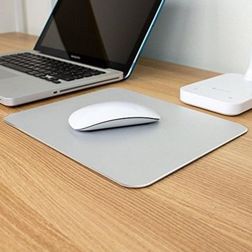 1pcs 26*20cm Gaming mouse pad Aluminum Gaming Mouse Pad Non Slip Rubber Base for Macbook Computers Laptops