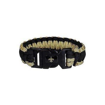 "New Orleans Saints NFL Survival Paracord 9"" Bracelet Team Logo Plastic B ..."