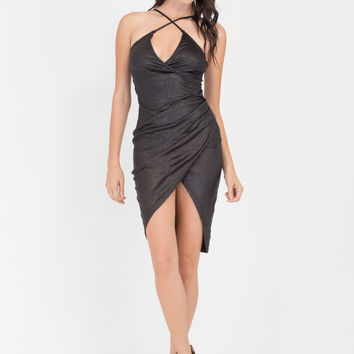 Glitz The Night Away Ruched Wrap Dress GoJane.com