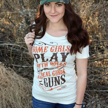Real Girls Play with Guns Tee