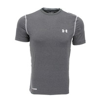 Under Armour Men's HeatGear Sonic Fitted T-Shirt, Gray (Size L, XL)
