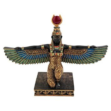 Design Toscano Isis Egyptian Goddess of Beauty Statue, Full Color