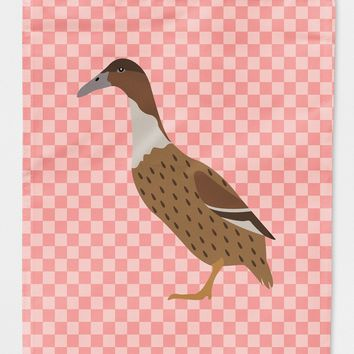 Dutch Hook Bill Duck Pink Check Flag Canvas House Size BB7861CHF