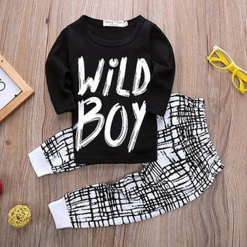 """WILD BOY"" Long Sleeve 2 Piece Set"