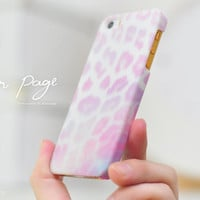 Apple iphone case for iphone iphone 5 iphone 5s iphone 5c iphone 4 iphone 4s iPhone 3Gs : cute pink leopard fur ( not real fur )