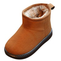 Fashion Solid Toddler Snow Boots Children Baby Boys Girls  Martin Sneaker Winter Warm Plus Velvet Casual Anti-slip Shoes #IS