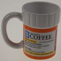 Prescription Bottle Coffee Mug Medical Doctor Nurse Secretary Humorous Office