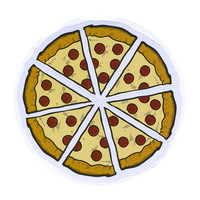 Pizza Slices Emoji Sticker Multi One Size For Men 27540795701