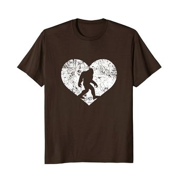 I Love Bigfoot Shirt- Funny Cute Sasquatch Yeti Heart Gift