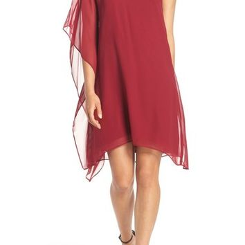 BCBGMAXAZRIA 'Alana' One-Shoulder Asymmetrical Silk Chiffon Dress | Nordstrom