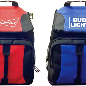 Budweiser/Bud Light 28 Can Backpack Coolers - Assorted Solid Prints