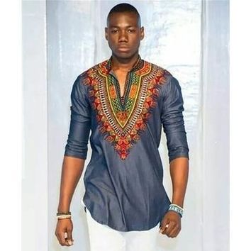 African Fashion Men's Half Sleeve Printed T-shirts  [8833519308]