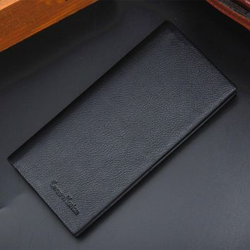 2018 Selling  Man Wallet Leather Concise Money Bag Huge Capacity Purse Card Holder Man Wallet Leathe  Billetera Hombre #Zer