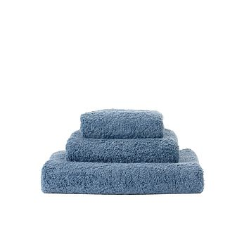 Super Pile Blue Stone Towels by Abyss and Habidecor