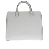 Victoria Beckham Handbags :: Victoria Beckham grey grained leather Victoria handbag | Montaigne Market