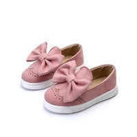 Nena Bow Pink Girl Sneaker Slip on