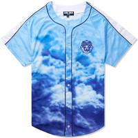 AURA GOLD Blue Digital Cloud Baseball Jersey | HYPEBEAST Store. Shop Online for Men's Fashion, Streetwear, Sneakers, Accessories