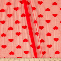 Telio Stretch Lace Cupid Heart Red