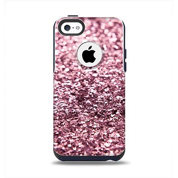 The Subtle Pink Glimmer Apple iPhone 5c Otterbox Commuter Case Skin Set