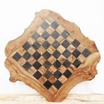 Custom Olive Wood Chess Board, Wooden Chess Set Game, Dad gift, Birthday Gift