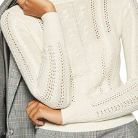 Topshop Cable Knit Sweater | Nordstrom