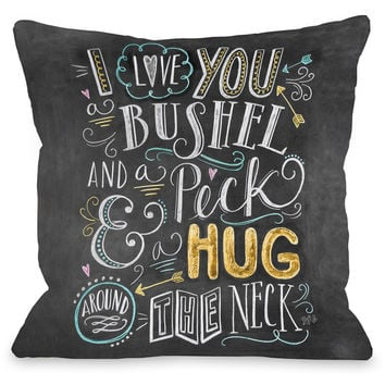 """Bushel And A Peck"" Indoor Throw Pillow by Lily & Val, 16""x16"""