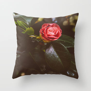 The Rose Throw Pillow by Pati Designs