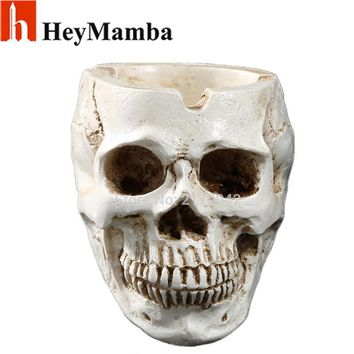 Skull Skulls Halloween Fall White Human  Planter Archaize Garden Storage Pots Resin Human  Skeleton Container Flowerpots For Decoration Art Gifts Calavera
