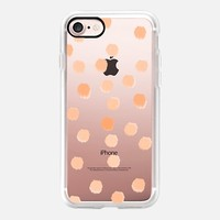 Peachy Boss Dots - Transparent/Clear Background iPhone 7 Case by Lisa Argyropoulos | Casetify